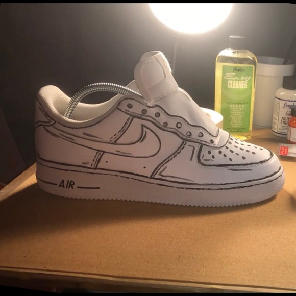 Nike Shoes Custom Cartoon Air Force Ones Poshmark